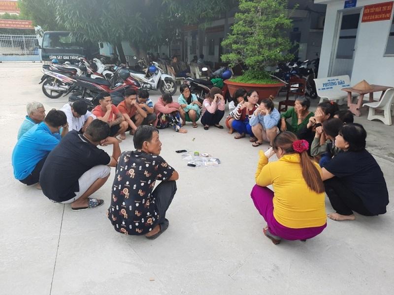Bắt quả tang 20 đối tượng tụ tập tham gia đánh bạc trong vườn xoài tại An Giang