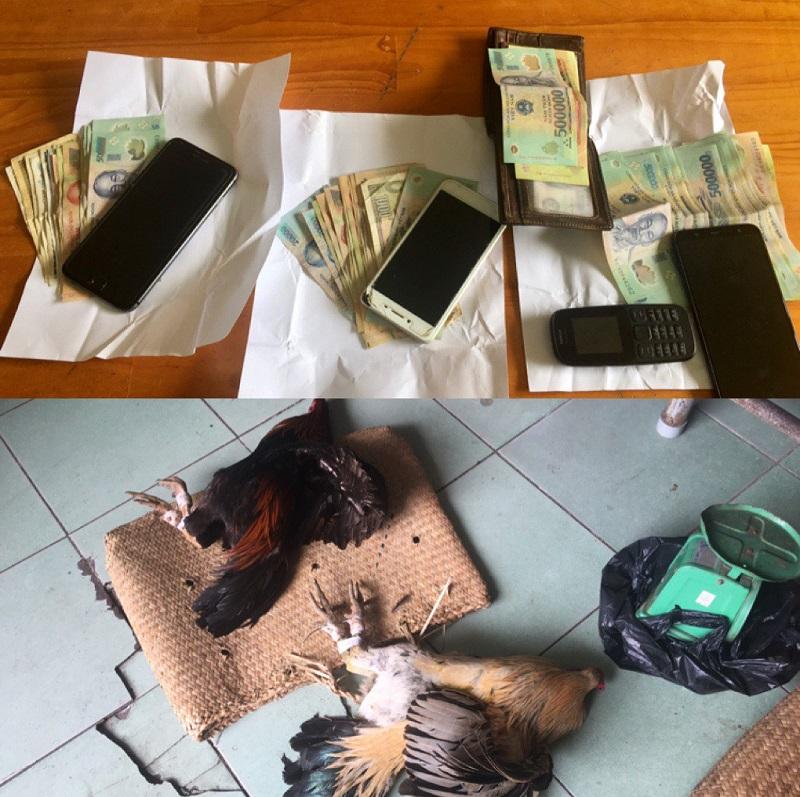 Bắt quả tang 04 đối tượng tụ tập tham gia đánh bạc ăn tiền tại Sóc Trăng