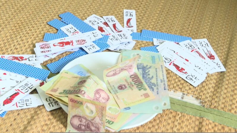 Hưng Yên: Bắt quả tang 5 'lão đại' đang đánh bạc dưới hình thức đánh chắn