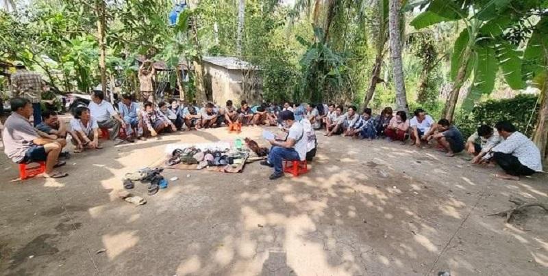 Kiên Giang: Xóa ổ nhóm đánh bạc quy mô lớn, bắt giữ 29 đối tượng